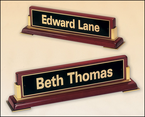 Stand Alone Desk Name Plate